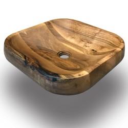 SZN Wood - SZN Wood Ovi Lavabo Ceviz 44x44x9cm --