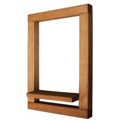 SZN Wood - SZN Wood Ribbo Ahşap Raf Ladin-Göknar Kendin Yap 32 x 47 x 9 cm SZN51-Teak - - - -