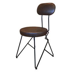 SZN Wood - SZN Wood Sandalye Biss Yuvarlak Özel Renk Siyah - 48cm Oturum 48x48x85cm