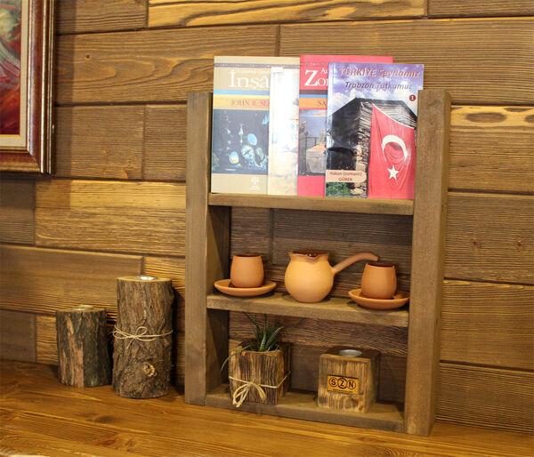 SZN Wood Troy Ahşap Raf Ladin-Göknar Kendin Yap 40 x 49 x 9 cm SZN92-Wenge - - - -