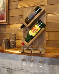 SZN Wood Vinto Şaraplık Ladin-Göknar Kendin Yap 27 x 49 x 11 cm SZN92-Wenge - - - - - Thumbnail